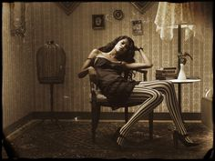 Modern photograph inspired by famous Ernest Bellocq Storyville Prostitute photo