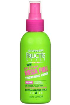 Want instant fullness with lots of body? This ultra-light lotion can help you achieve that thick hair you covet. Garnier Full and Plush Thickening Lotion, $4.29; garnierusa.com   - MarieClaire.com