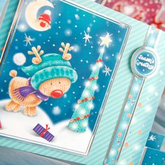 Hunkydory Ultimate Christmas Bundle - 4 Christmas Kits, Inserts, Little Book, Adorable Scorable Festive Collection and Free Crafting Magazine Christmas Cards To Make, All Things Christmas, Card Making Inspiration, Making Ideas, Create And Craft, Heartfelt Creations, Fall Cards, Pretty Cards, Little Books