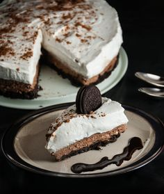 No Bake Chocolate Cheesecake As an adult, I have forgotten a crucial piece of information necessary for living a happy and fulfilled life: Oreos are delicious. Seriously, how I have I forgotten this? It's so basic. It's almost enough for me to forgo my love of all things pumpkin. Almost. And Oreo crust in a...