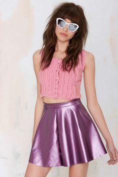 Glamorous Spin Around Vinyl Skirt
