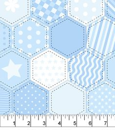 Snuggle Flannel Fabric 42''-Blue Quilt Patternnull