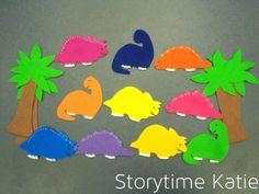 10 Little Dinosaurs Flannel Friday: Ten Little Dinosaurs | storytime katie