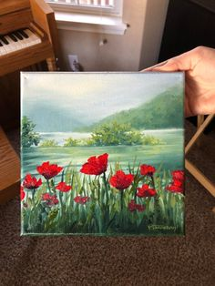 Poppies Painting, Types Of Painting, Traditional Paintings, Red Poppies, Artist At Work, Farmer, Watercolor, Drawings, Illustration