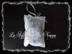 Cuscinetto con lavanda e trasferimento d'immagine  Small pillow with lavender and image transfer