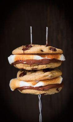 Bring the Campfire to Your Kitchen With Chocolate Chip Cookie S'mores