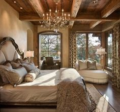 Gorgeous Luxury Rustic Master Bedroom Design Ideas and Photos - Zillow Digs Country Master Bedroom, Home Bedroom, Bedroom Ideas, Bedroom Decor, Dream Bedroom, Pretty Bedroom, Bedroom Furniture, Bedroom Ceiling, Bedroom Retreat