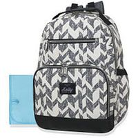 Kelty Super Cooler Backpack Diaper Bag with Rugged Trim - Grey/White