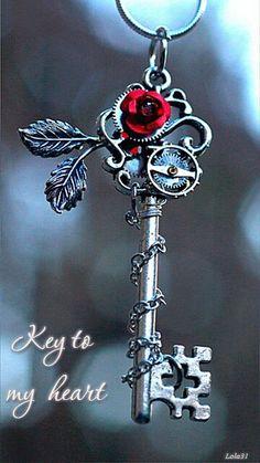 The key to my heart #love #beautiful #heart #gif