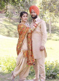 Punjabi Girls, Punjabi Couple, Punjabi Dress, Pre Wedding Poses, Pre Wedding Photoshoot, Panjabi Suit, Kurta Pajama Men, Best Couple, Beautiful Couple