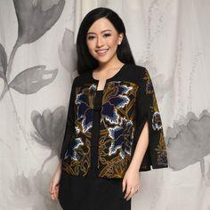 Home - Batik Kultur Model Dress Batik, Batik Dress, Blouse Batik Modern, Batik Muslim, Outer Batik, Batik Blazer, Mode Batik, Chic Black Outfits, Batik Kebaya