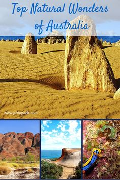 Top Natural Wonders of Australia - From Just a Pack Top Natural Wonders of Australia -What to see and do for the nature lover including the Great Barrier Reef, Shark Bay, & the Blue Mountains! Places To Travel, Places To See, Travel Destinations, Australia Travel Guide, Australia 2017, Western Australia, Slow Travel, Travel Tips, Travel Articles