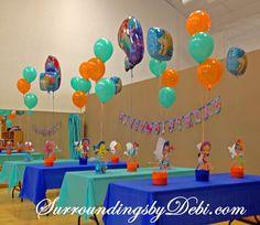 bubble guppies centerpieces | Bubble Guppies – Ariel Birthday Party! Let's Celebrate!