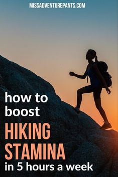 Use these tips to increase hiking and backpacking stamina when your training time is limited. This article shows you how to get the most out of every workout, plus helpful time management tips. Click the link to check it out! Backpacking For Beginners, Backpacking Tips, Hiking Tips, Camping And Hiking, Hiking Gear, Hiking Backpack, Hiking Boots, Kayak Camping, Ultralight Backpacking