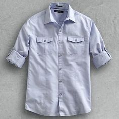 Might look good on me for the upcoming seasons. Marc Anthony Slim-Fit Solid Casual Button-Front Guy's Shirt at Kohl's