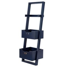 Little Sloane Leaning Bookcase (Midnight Blue) - the bins on this desk are great for a quick, easy cleanup of the room.