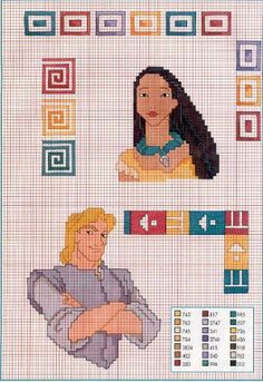 Pocahontas and John Smith pattern
