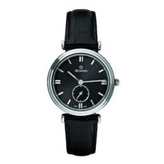 Grovana Women's Quartz Watch with Black Dial Analogue Display and Black Leather Strap 3276.1537 by Grovana, http://www.amazon.co.uk/dp/B007XQQP12/ref=cm_sw_r_pi_dp_GnBDrb0YXH1T3