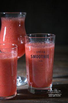 Strawberry, Grapefruit, & Ginger-Apple Smoothie recipe - Clean Slate Cookbook