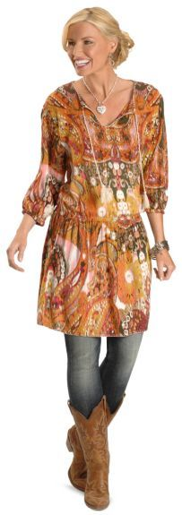 Ariat Floral Cantina Tunic available at #Sheplers