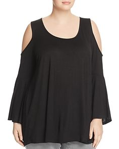 fd69bc65bed Alison Andrews Plus Cold Shoulder Bell Sleeve Top - Exclusive Women - Plus  - Bloomingdale s