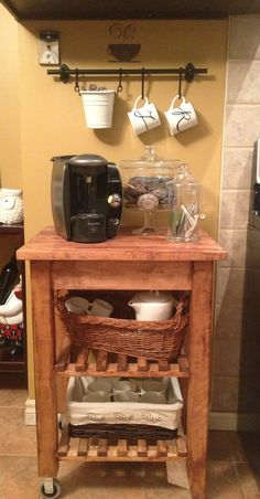 My coffee bar with his and hers mugs :)
