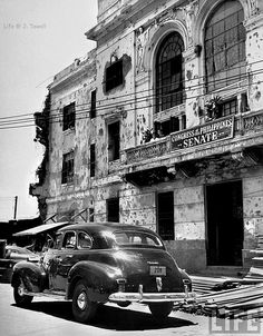 Temporary Senate headquarters after WWII, Manila City Hall, Manila, Philippines, May 1948 Les Philippines, Philippines Culture, Countries Of Asia, Filipino Culture, Chinese Culture, Subic Bay, Ancient Greek Architecture, Gothic Architecture, Philippine Holidays