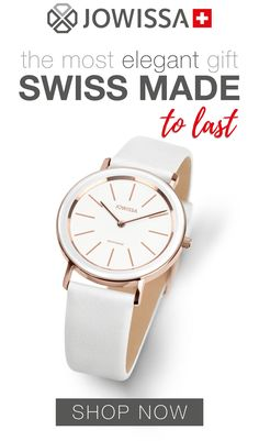 Minimalist watches for women make the best gifts for her. This white ladies watch, Swiss Made by Jowissa, looks elegant and classy with any outfit. Old Watches, Swiss Army Watches, Watches For Men, Popular Watches, Nice Watches, Stylish Watches, Luxury Watches, Elegant Watches, Best Gifts For Her