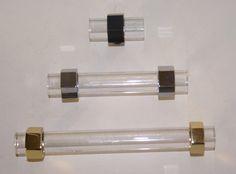 """SignatureThings.com  Brass Hardware Hex Ring Lucite Pull - 3/4"""" D"""