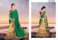 Designer Saree Partywear Bollywood Indian Pakistani Ethnic Wedding Dress Sari #TanishiFashion #DesignerSaree