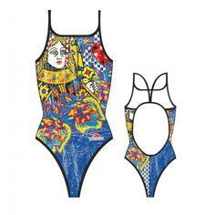 75eb22440ccd Bañador de natación Turbo Pirate Treasure tira fina negro mujer ...