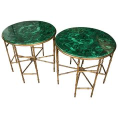 Stunning Pair of Malachite Pedestals | See more antique and modern Pedestals at https://www.1stdibs.com/furniture/tables/pedestals