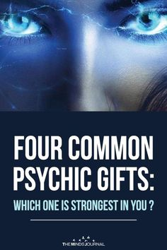 Do you know when things happen even before you hear about them? Four Common Psychic Gifts: Which One Is Strongest in You ? Psychic Powers, Psychic Abilities, Am I Psychic, Psychic Development, Spiritual Development, Spiritual Gifts, Spiritual Prayers, Psychic Mediums, Spirit Guides