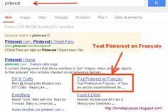 """►Le board #Pinterest : """"tout Pinterest en Français"""" est en première page de #Google. Lire le reste de l'article sur http://tomatejoyeuse.blogspot.com/2012/12/merci-google-merci-pinterest.html"""