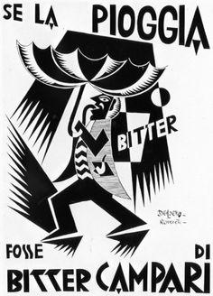 Campari: storia di un rituale sociale - Loves by Domus Retro Poster, Poster Vintage, Graphic Design Posters, Modern Graphic Design, Vintage Labels, Vintage Ads, Vintage Wine, Vintage Italian Posters, Futurism Art
