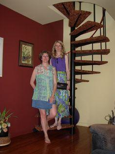 Tanner design: daughters Laura (left) and Merrill inside university avenue triplex.