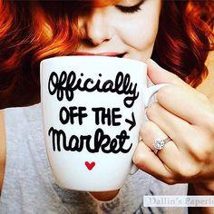 Perfect mug to accompany that new engagement ring ☕️ Via: @michelleperezevents |Mug: @dallinspaperie on etsy