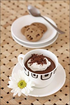 My Diverse Kitchen: Eggless Chocolate Pots de Crème – An Easy, No-Bake Dessert