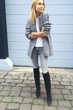 Click for easy ways to wear over-the-knee boots right now - we promise you'll fall in love with the thigh-high style!