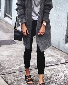 20 Fall Birkenstock Outfit Inspiration Looks Where to Buy & Birkenstock Dupes Style: Fall Outfits Birkenstock Outfit, Black Birkenstock, Birkenstock Arizona, Fall Winter Outfits, Autumn Winter Fashion, Rainy Day Outfits, Rainy Outfit, Winter Clothes, Winter Wear