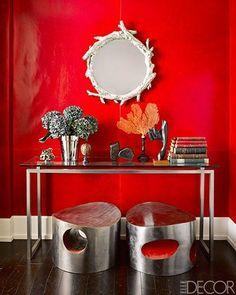Red walls ♡ teaspoonheaven.com