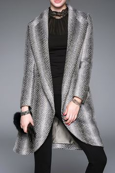 Open Tweed Coat