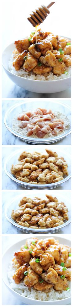 Asian Honey Chicken - A take-out favorite that you can easily make right at home - and the homemade version tastes a millions times better! dinner, takeout favorit, cook, at home, food, drink, easili, eat, asian honey chicken