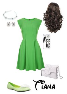 """""""Disney - Tiana"""" by briony-jae ❤ liked on Polyvore featuring MeDusa, CellPowerCases, Topshop and Ellie Shoes"""