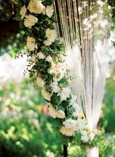 ceremony floral details, color images, Colors, emerald green, floral altars and chuppahs, flowers, ivory, kelly green, #timelesstreasure