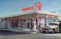 Vintage Diner, Vintage Cars, Vintage Photos, Vintage Signs, Towing Company, Firestone Tires, Old Gas Pumps, Gas Service, Mechanic Garage