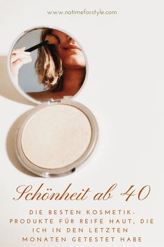 Schönheit ab die beste Kosmetik ab 40 – no time for style Skin Care Regimen, Skin Care Tips, Retinol Creme, Beauty Secrets, Beauty Hacks, Beauty Products, Beauty Over 40, Minimal Makeup, How To Apply Foundation