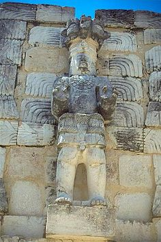 Uxmal, Yucatan, Mexico - Mayan ruins detail