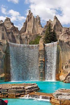 Wonder Mountain Waterfall, Toronto, Canada.