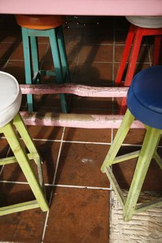 fun coloured stools